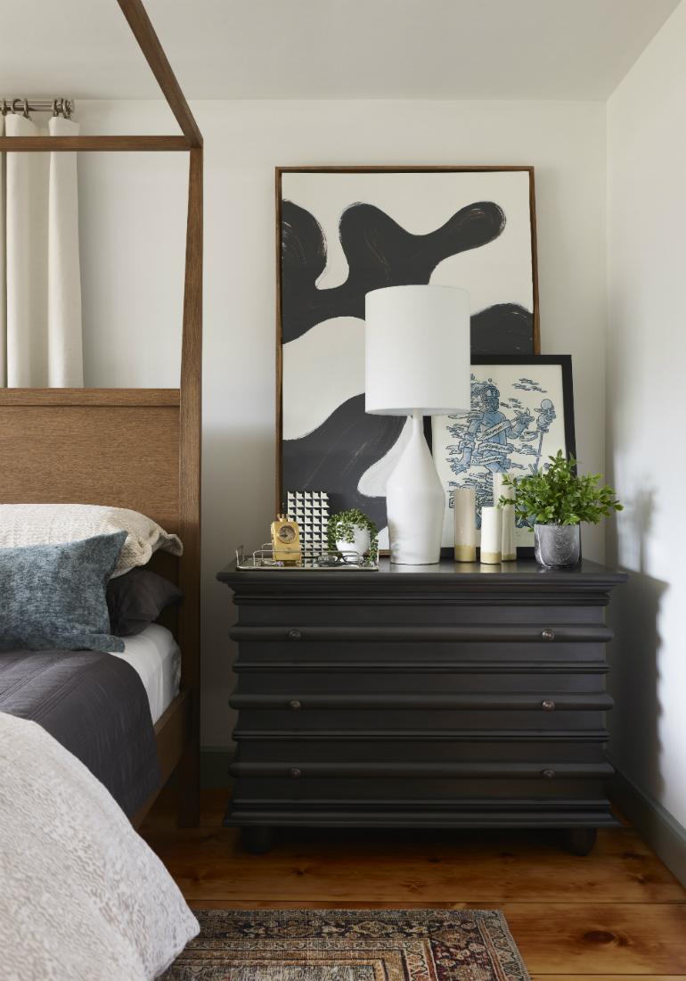 dark-wood-side-table-bedroom-interior-design-jenn-obrien