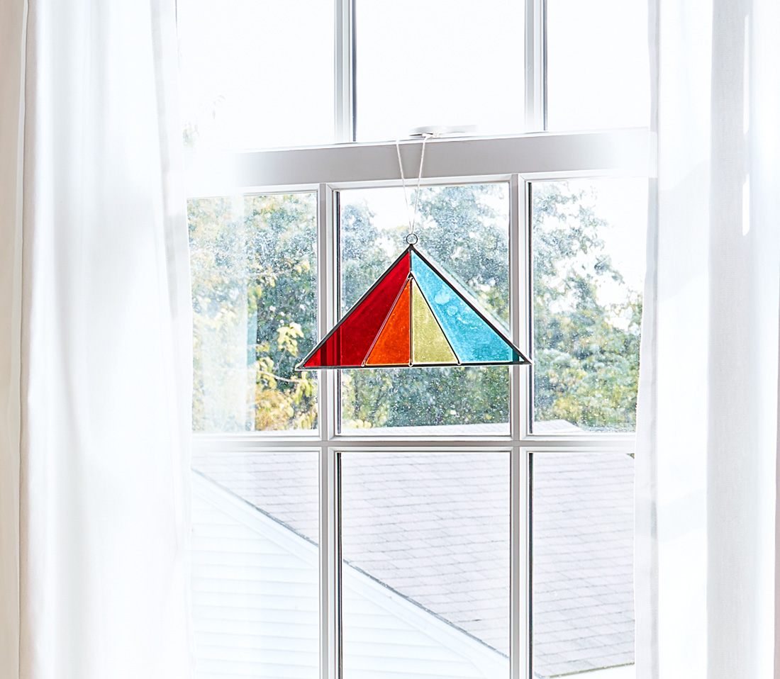 Rainbow Stained Glass Triangle Sun Catcher Shop Love Joi
