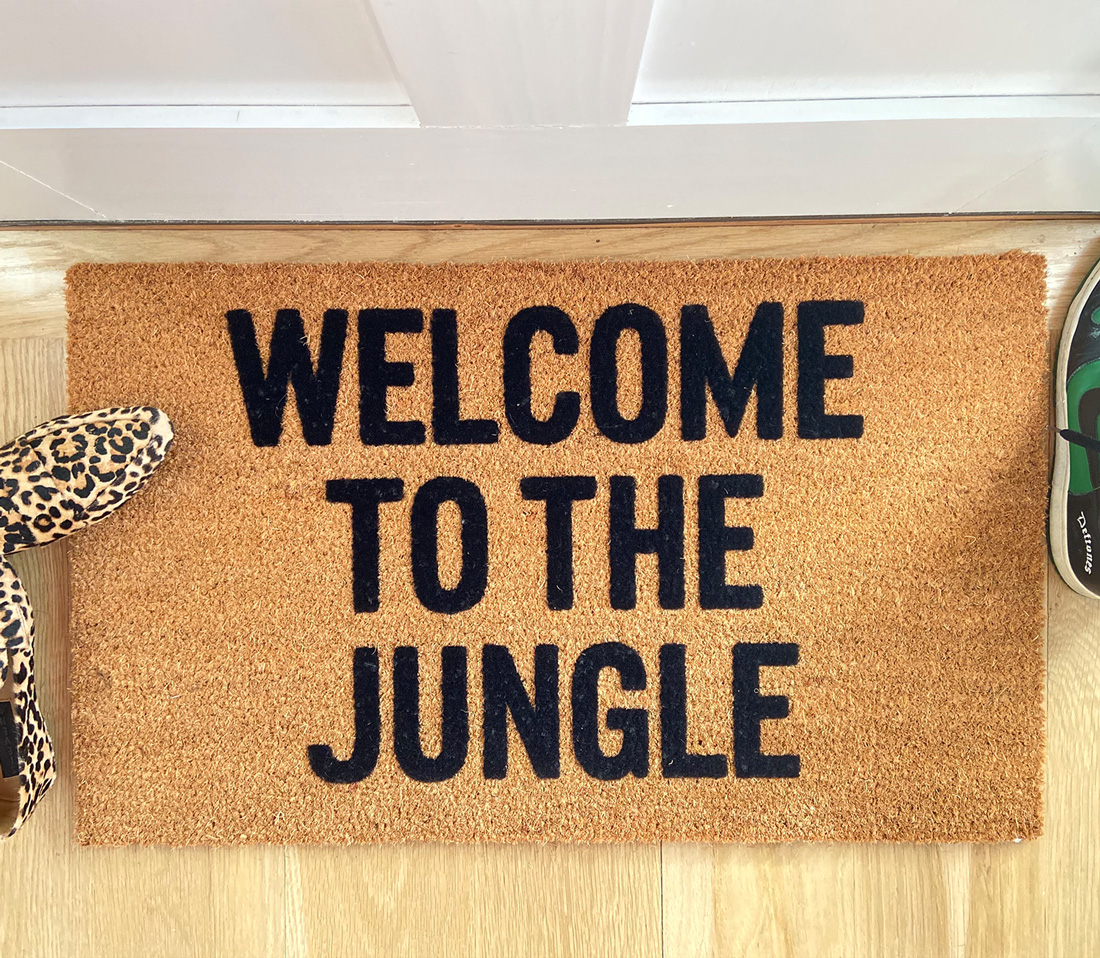 Welcome To The Jungle Doormat Lovejoi Ma