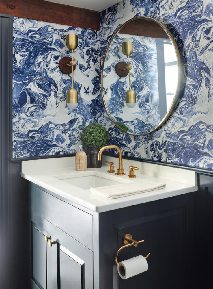 powder-room-finished-basement-wallpaper-blue